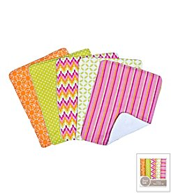 Trend Lab Savannah 5-Pack Burp Cloth Bundle Box Set