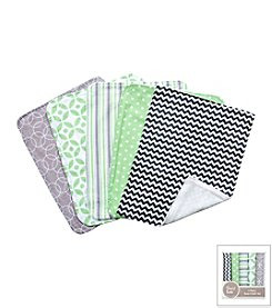Trend Lab Lauren 5-Pack Burp Cloth Bundle Box Set