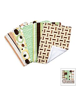 Trend Lab Giggles 5-Pack Burp Cloth Bundle Box Set
