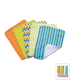 Trend Lab Levi 5-Pack Burp Cloth Bundle Box Set