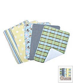 Trend Lab Baby Barnyard 5-Pack Burp Cloth Bundle Box Set