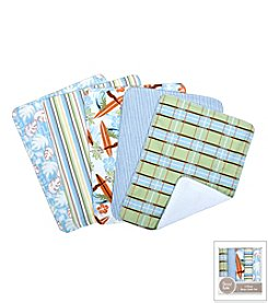 Trend Lab Surfs Up 5-Pack Burp Cloth Bundle Box Set