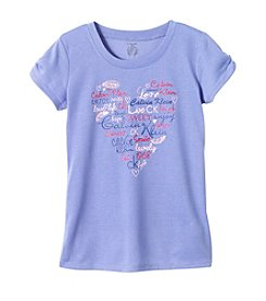 Calvin Klein Girls' 5-16 Heart Logo Tee