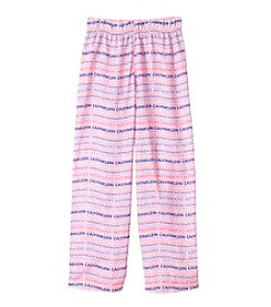 Calvin Klein Girls' 5-16 Wavy Line Logo Pants