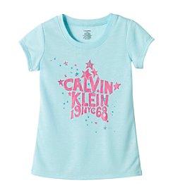 Calvin Klein Girls' 5-16 Star Logo Tee