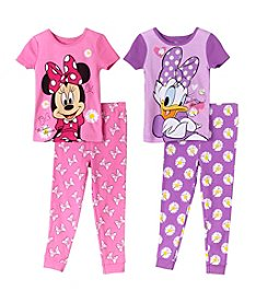 Disney® Girls' 2T-4T 4-Piece Minnie And Daisy Dots And Bows Set