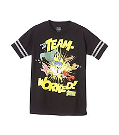Nickelodeon® Boys' 8-20 Short Sleeve SpongeBob Team Tee