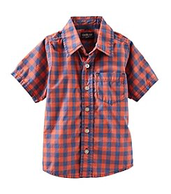OshKosh B'Gosh® Boys' 4-7 Plaid Button Up Top