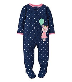 Carter's® Baby Girls' Contented Piggy One-Piece Footed Pajamas