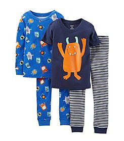 Carter's® Baby Boys' 4-Piece Snug-Fit Cotton Pjs