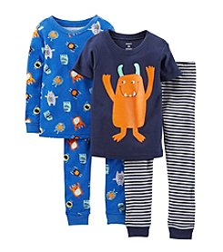 Carter's® Boys' 2T-4T 4-Piece Snug-Fit Cotton Pjs