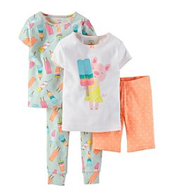 Carter's® Girls' 12M-4T  4-Piece Pig And Popsicle Set