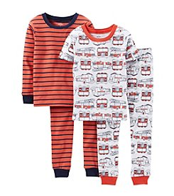 Carter's® Boys' 12M-4T 4-Piece Snug-Fit Cotton Pjs