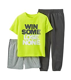 Carter's® Boys' 4-12 3-Piece Jersey & French Terry Pjs