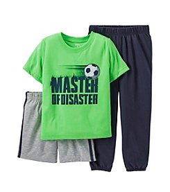 Carter's® Boys' 4-14 3-Piece Jersey & French Terry Pjs