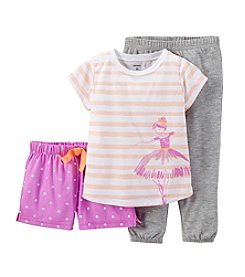 Carter's® Girls' 4-14 3-Piece Jersey Pjs