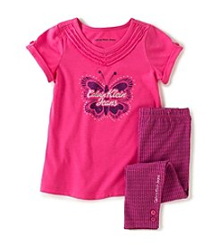 Calvin Klein Girls' 2T-6X Butterfly Tunic With Leggings Set