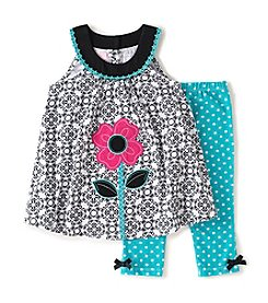 Kids Headquarters® Girls' 2T-6X  2-Piece Flower Set