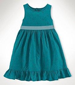 Chaps® Girls' 2T-4T Eyelet Dress