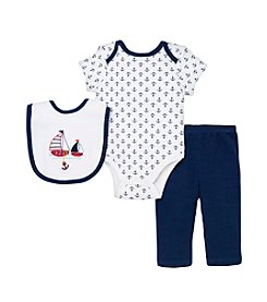 Little Me® Baby Boys' 3-Piece Nautical Pants Set