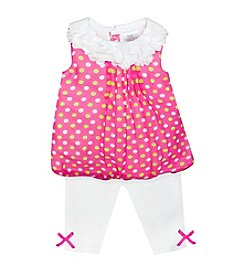 Baby Essentials® Baby Girls' Multi Dot Outfit Set