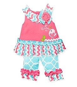 Baby Essentials® Baby Girls' Bird Top Outfit Set