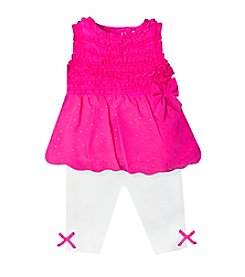 Baby Essentials® Baby Girls' Swiss Dot Outfit Set