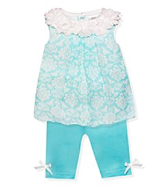 Baby Essentials Baby Girls' Wallpaper Print Outfit Set