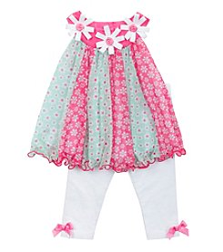 Rare Editions® Baby Girls' Floral Dress and Leggings Outfit Set