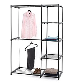 LivingQuarters Double Rod Closet With Shelving