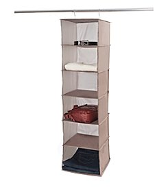 LivingQuarters 6-Shelf Sweater Hanging Organizer