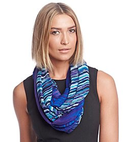Calvin Klein Painted Stripe Ombre Infinity Scarf