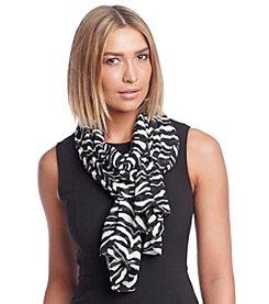 Calvin Klein Graphic Zebra Scarf