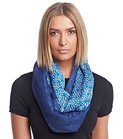 Calvin Klein Twisted Double Faced Geo Infinity Scarf