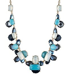 Anne Klein® Goldtone and Blue Cluster Necklace