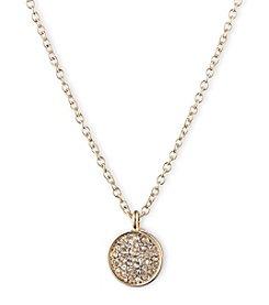 Anne Klein® Goldtone Pave Pendant Necklace
