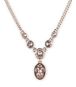 Givenchy® Rose Goldtone Silk Y Necklace