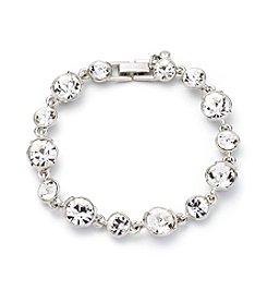 Givenchy® Silvertone Crystal Flex Bracelet