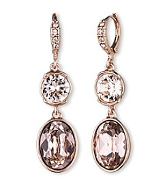 Givenchy® Rose Goldtone Silk Drop Earrings