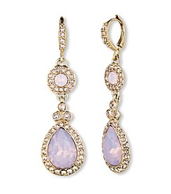 Givenchy® Goldtone Opal Drop Earrings
