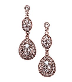 Givenchy® Rose Goldtone Pear Drop Earrings