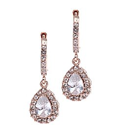 Givenchy® Rose Goldtone Tear Drop Earrings