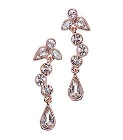 Givenchy® Rose Goldtone Linear Dangle Drop Earrings