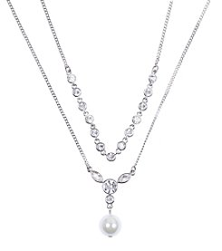 Givenchy® Silvertone Two Row Necklace