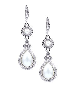Givenchy® Silvertone Pearl Drop Earrings