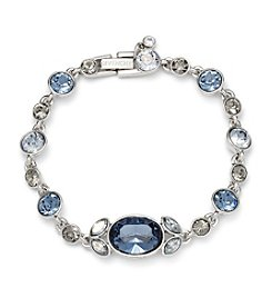 Givenchy® Silvertone and Blue Flex Bracelet