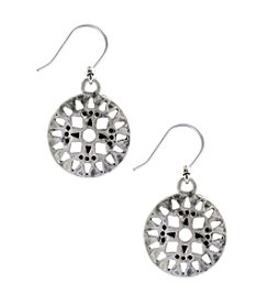 Lucky Brand® Silvertone Openwork Drop Earrings