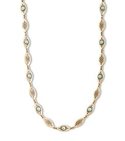 Lucky Brand® Goldtone Delicate Turquoise Collar Necklace
