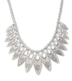 Lucky Brand® Silvertone Leaf Collar Necklace
