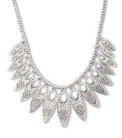 Lucky Brand® Silvertone Leaf Collar Necklace